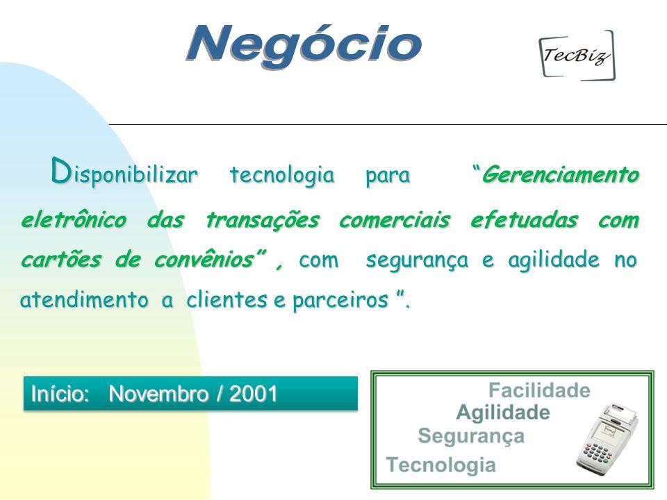 D isponibilizar tecnologia para Gerenciamento eletrônico das transações comerciais efetuadas com cartões de convênios, com segurança e agilidade no at