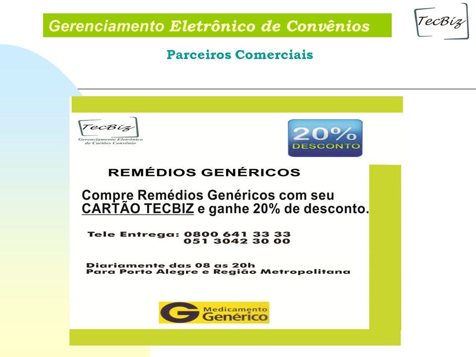 Gerenciamento Eletrônico de Convênios Parceiros Comerciais