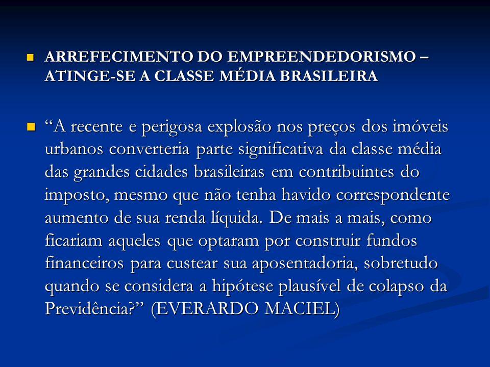 ARREFECIMENTO DO EMPREENDEDORISMO – ATINGE-SE A CLASSE MÉDIA BRASILEIRA ARREFECIMENTO DO EMPREENDEDORISMO – ATINGE-SE A CLASSE MÉDIA BRASILEIRA A rece