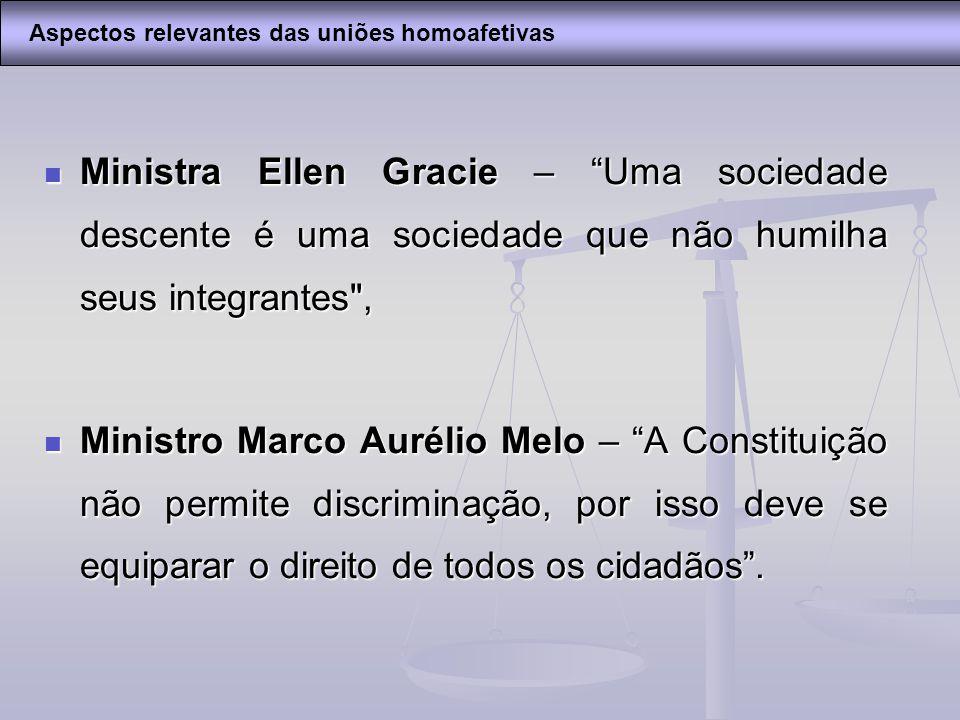 Ministra Ellen Gracie – Uma sociedade descente é uma sociedade que não humilha seus integrantes