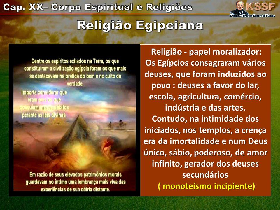 1) Como o Espírito readquire a faculdade de volitação, ao regressar para o plano espiritual.