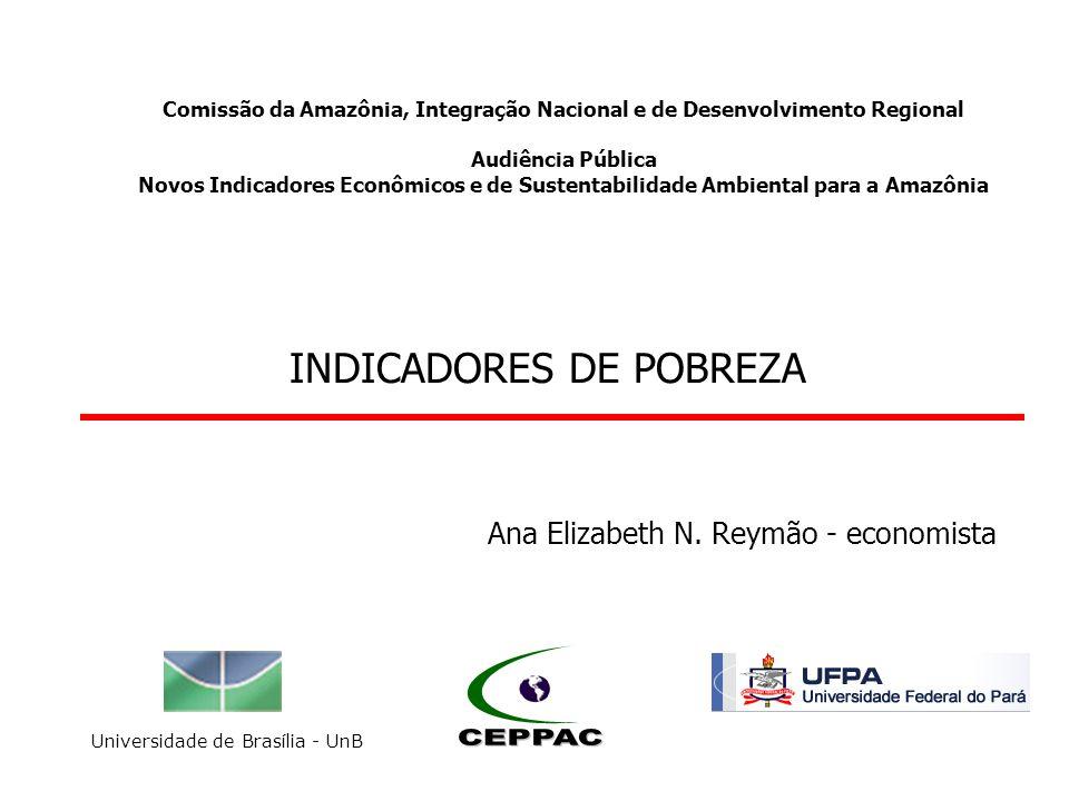 Comissão da Amazônia, Integração Nacional e de Desenvolvimento Regional Audiência Pública Novos Indicadores Econômicos e de Sustentabilidade Ambiental