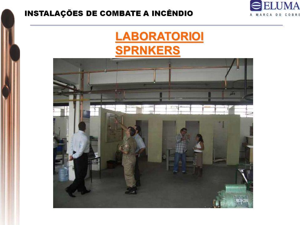 INSTALAÇÕES DE COMBATE A INCÊNDIO LABORATORIOI SPRNKERS