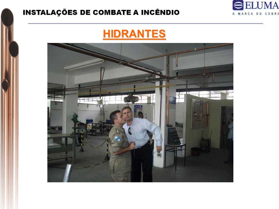 INSTALAÇÕES DE COMBATE A INCÊNDIO HIDRANTES