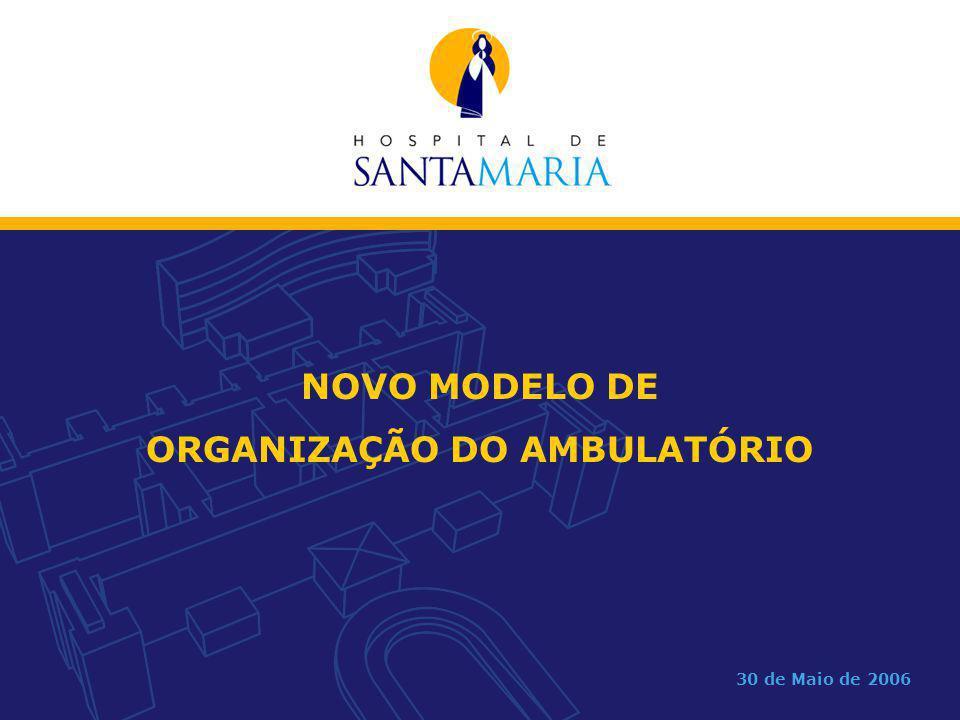 NOVO MODELO DE ORGANIZAÇÃO DO AMBULATÓRIO 30 de Maio de 2006