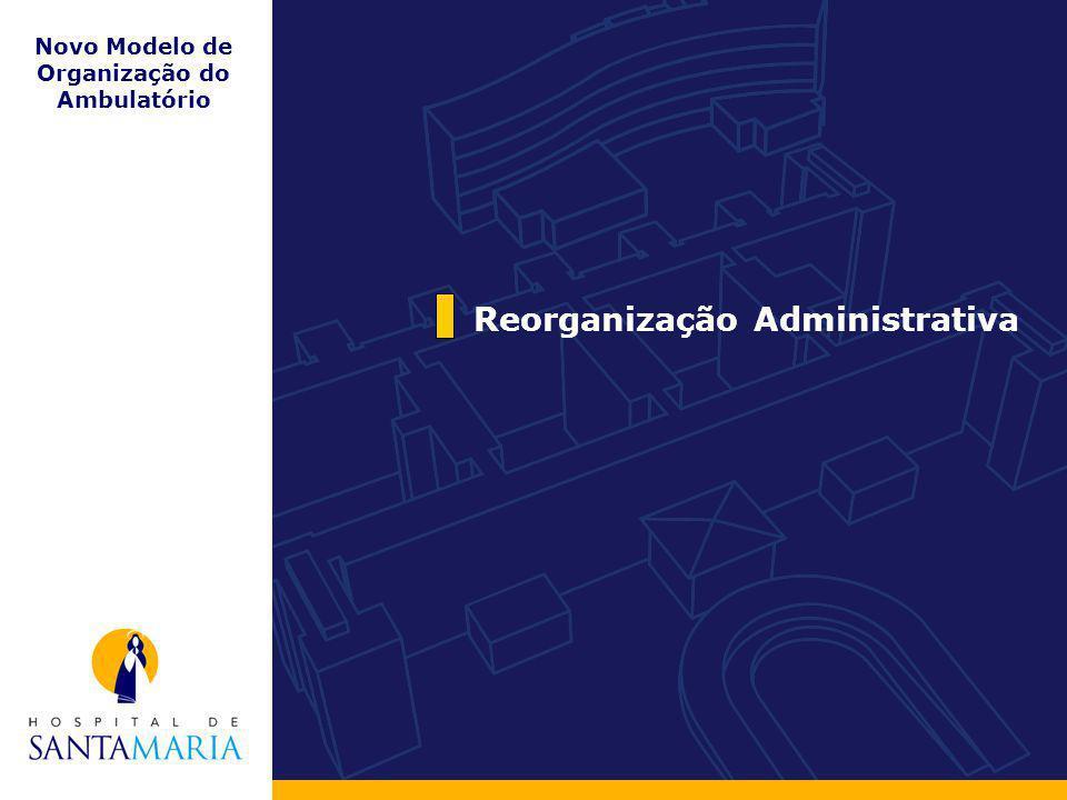 Reorganização Administrativa Novo Modelo de Organização do Ambulatório