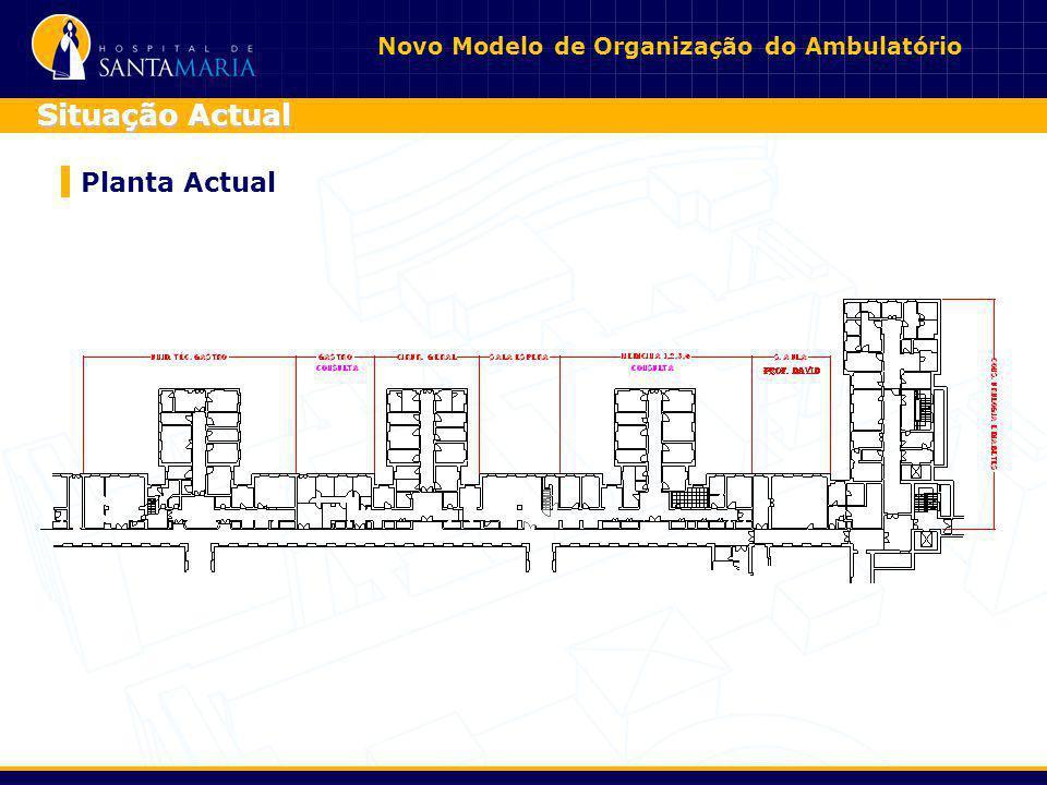 Novo Modelo de Organização do Ambulatório Planta Actual Situação Actual