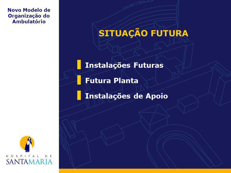Novo Modelo de Organização do Ambulatório Instalações de Apoio Futura Planta Instalações Futuras SITUAÇÃO FUTURA