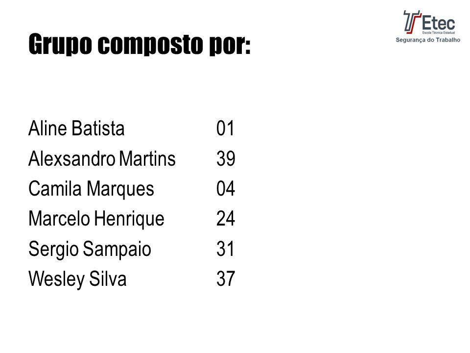Grupo composto por: Aline Batista01 Alexsandro Martins39 Camila Marques04 Marcelo Henrique24 Sergio Sampaio31 Wesley Silva37