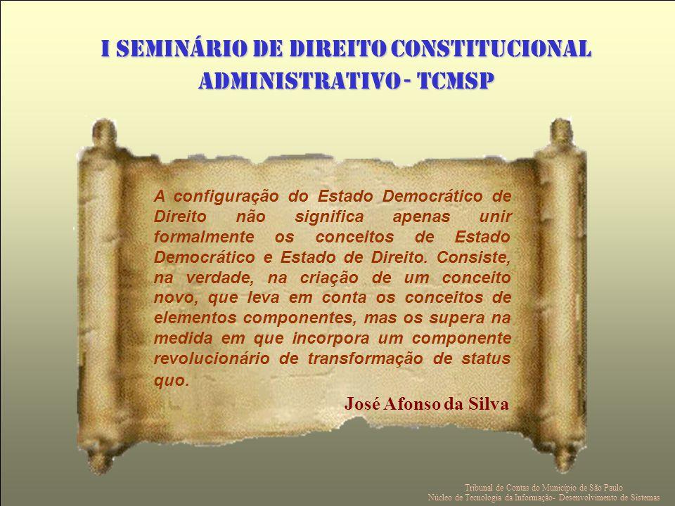 A configuração do Estado Democrático de Direito não significa apenas unir formalmente os conceitos de Estado Democrático e Estado de Direito.