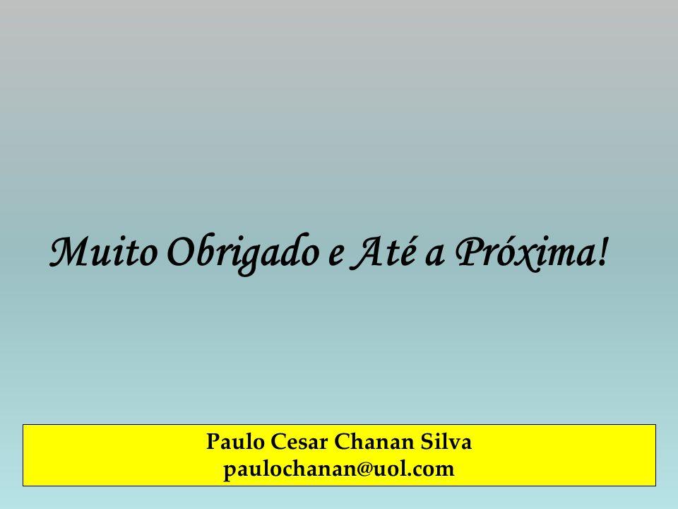 Muito Obrigado e Até a Próxima! Paulo Cesar Chanan Silva paulochanan@uol.com