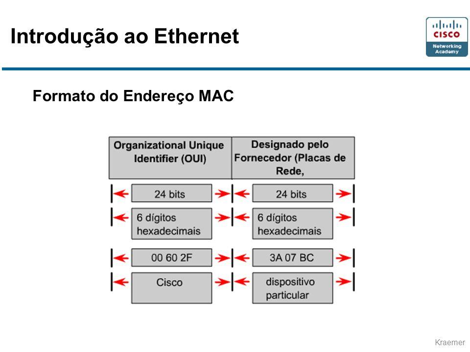 Kraemer Formato do Endereço MAC Introdução ao Ethernet