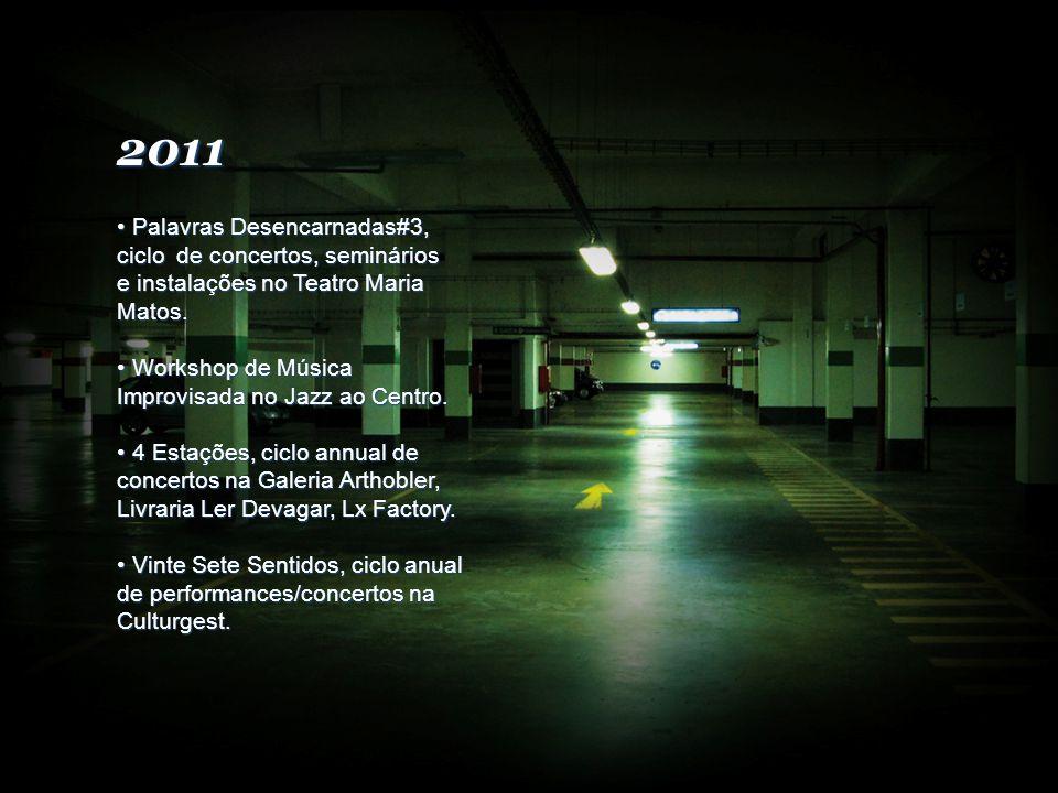 2011 Palavras Desencarnadas#3, ciclo de concertos, seminários e instalações no Teatro Maria Matos.