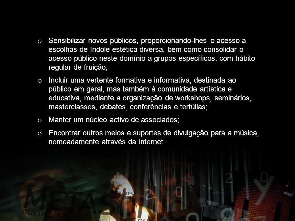 2010 METASONIC LX#3, ciclo de concertos, seminários, conferências e instalações, Goethe Institut Lissabon e Culturgest.