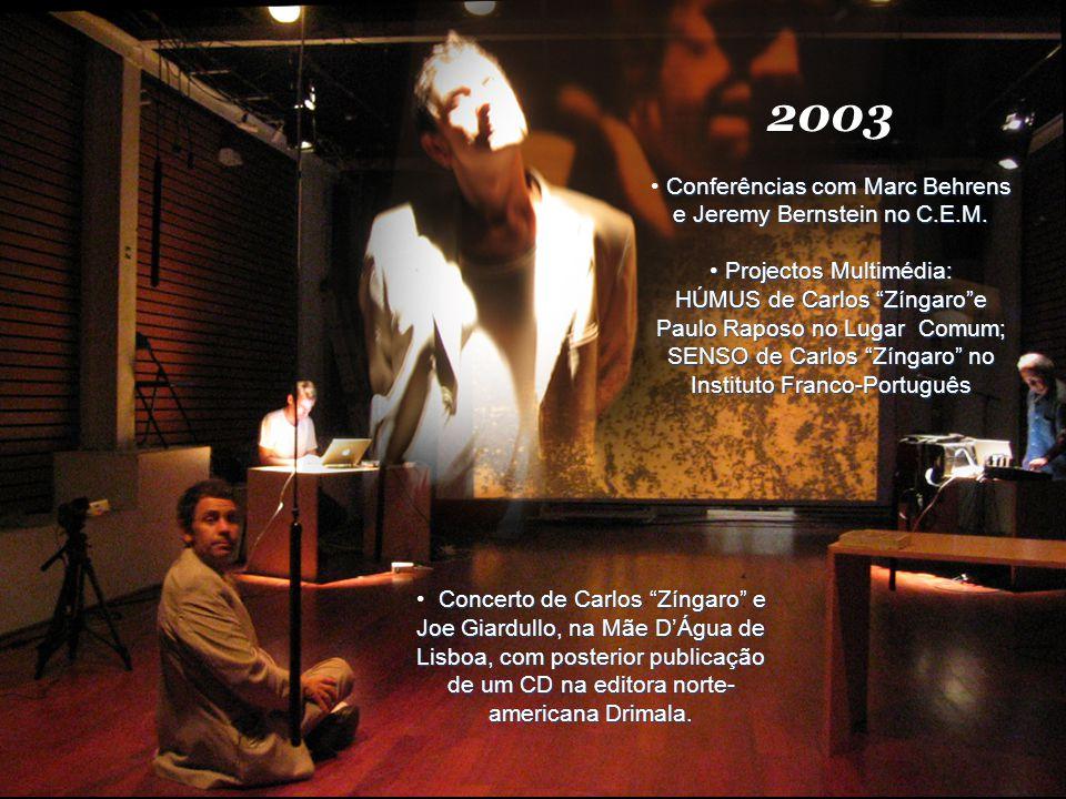 2004 PALAVRAS DESENCARNADAS #1, ciclo de concertos e conferências em torno da palavra no C.E.M.