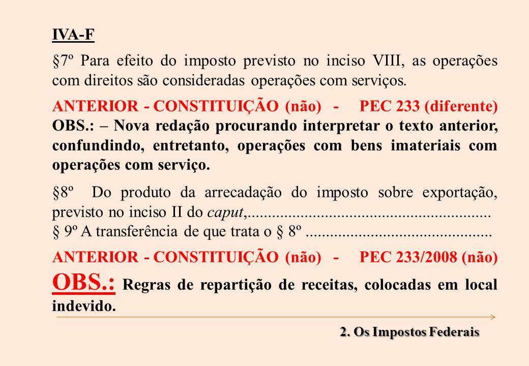 IVA-F §7º Para efeito do imposto previsto no inciso VIII, as operações com direitos são consideradas operações com serviços.