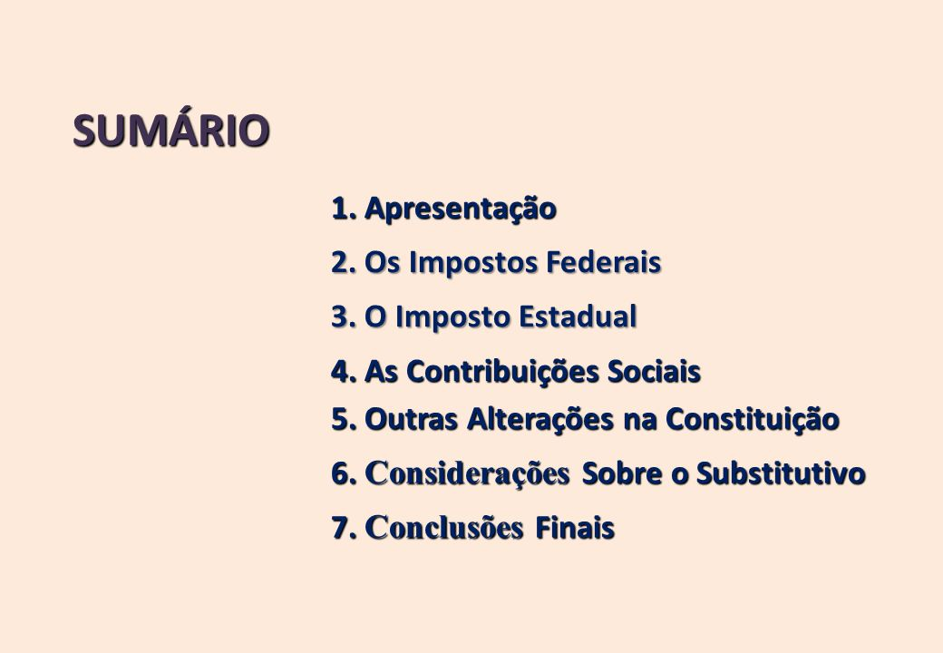5.2 - EM RELAÇÃO A OUTRAS MATÉRIAS CONSTITUCIONAIS Art.