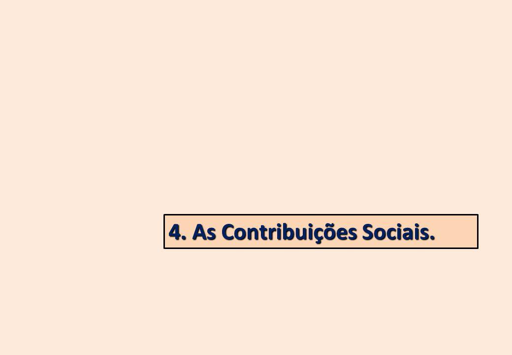 4. As Contribuições Sociais.