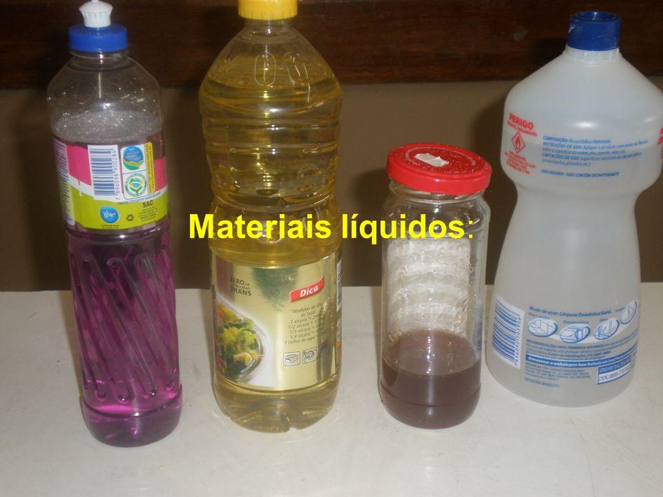 Materiais: líquidos e sólidos
