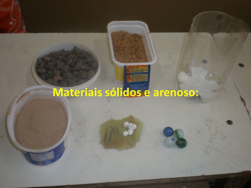 Materiais líquidos: