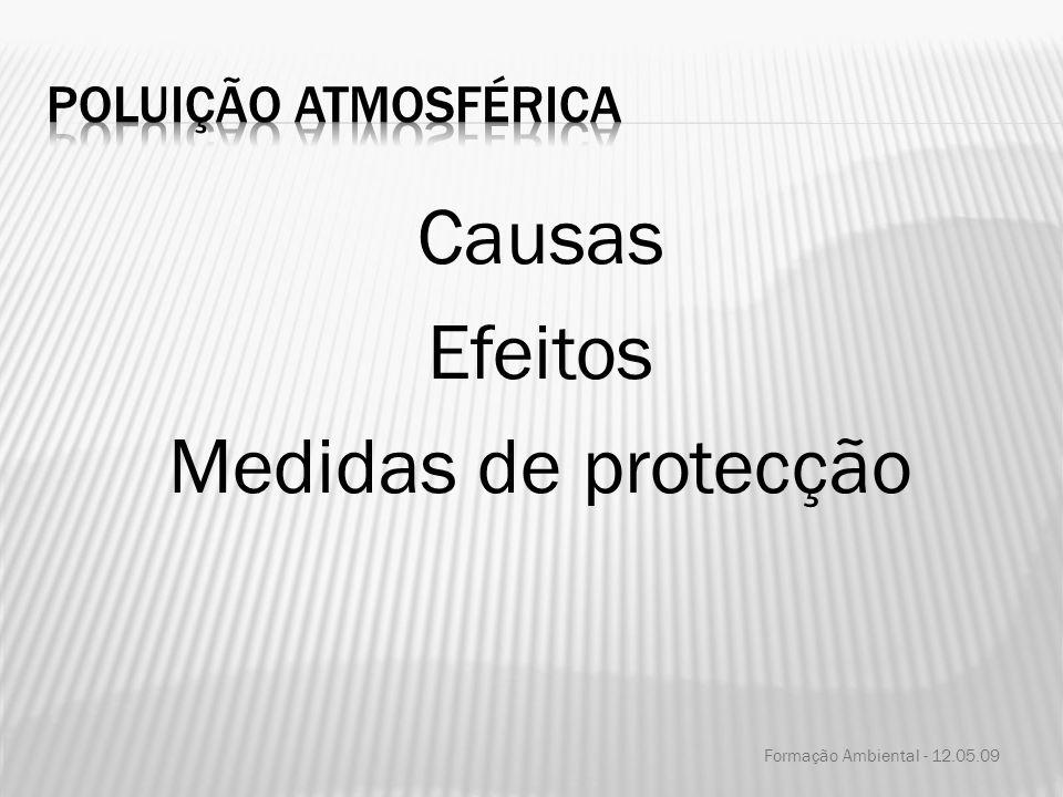 Causas Efeitos Medidas de protecção Formação Ambiental - 12.05.09