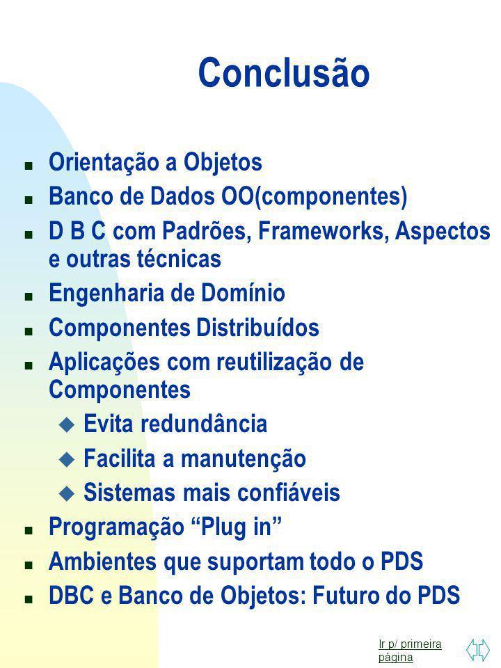 Ir p/ primeira página Outras Tecnologias 1.Orientação a Aspectos 2.Padrões 3.Frameworks 4.Agentes de Software 5.Web Services 6.XML e outras LPs WEB