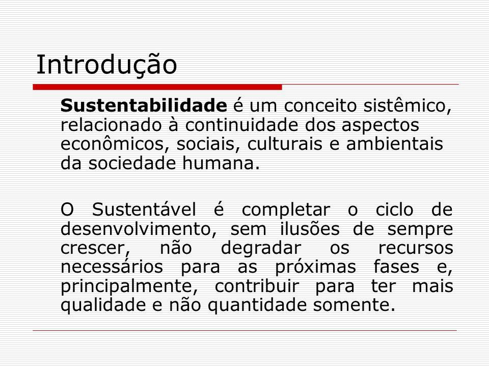 Pilares da Sustentabilidade Social Viabilização de uma maior equidade de riquezas e de oportunidades, combatendo- se as práticas de exclusão, discriminação e reprodução da pobreza e respeitando-se as diversidades em todas as suas formas de expressão.