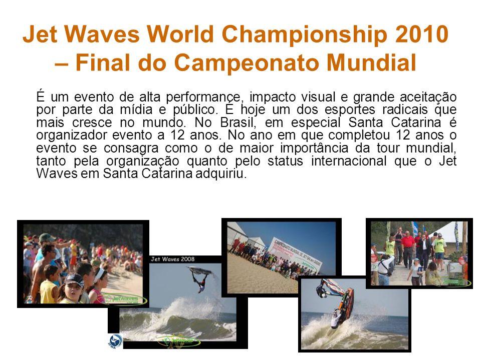 Jet Waves World Championship 2010 – Final do Campeonato Mundial É um evento de alta performance, impacto visual e grande aceitação por parte da mídia