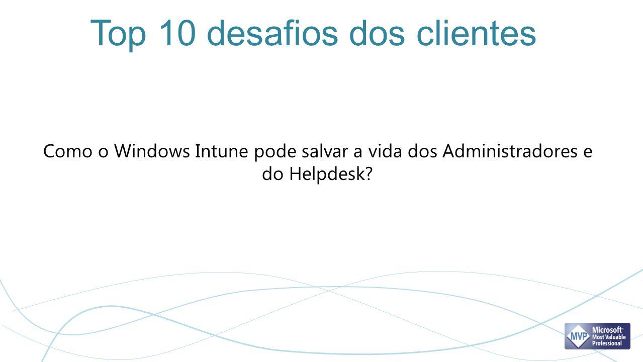 Top 10 desafios dos clientes Como o Windows Intune pode salvar a vida dos Administradores e do Helpdesk?