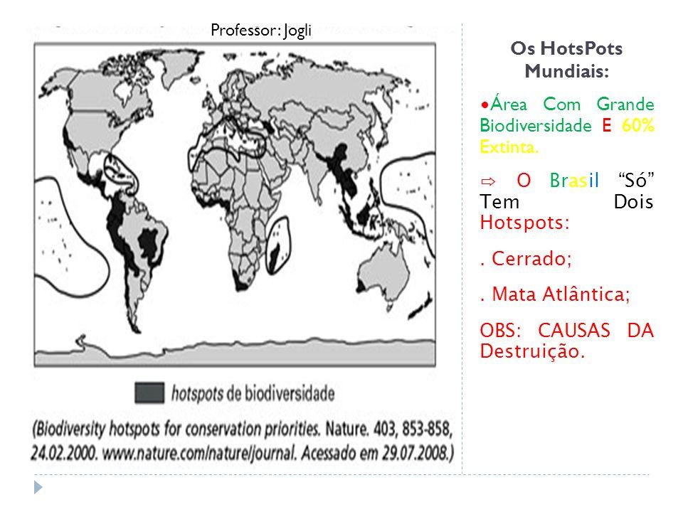 Os HotsPots Mundiais: Área Com Grande Biodiversidade E 60% Extinta.