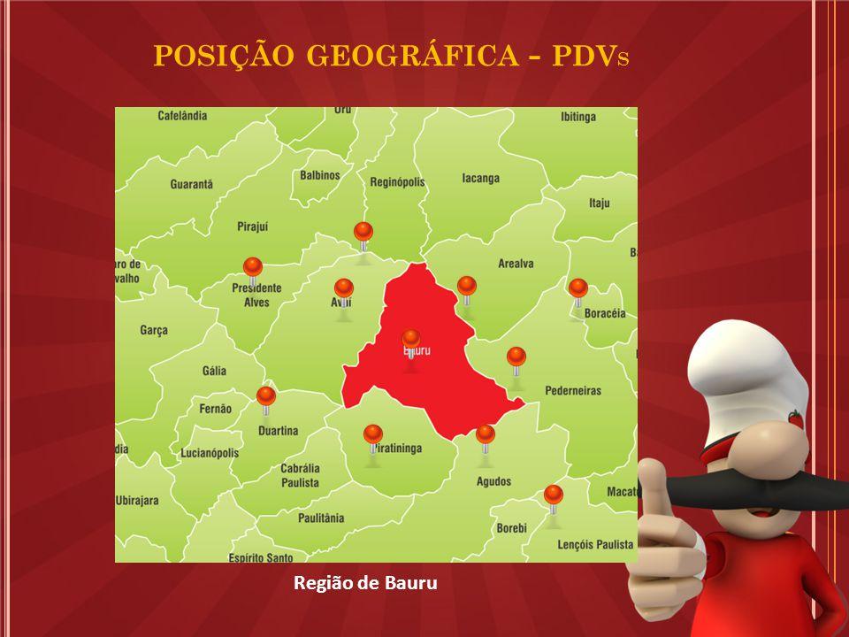 Região de Bauru POSIÇÃO GEOGRÁFICA - PDV S