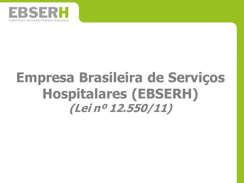 Empresa Brasileira de Serviços Hospitalares (EBSERH) (Lei nº 12.550/11)