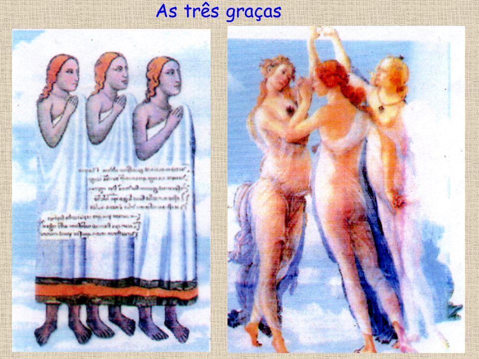 Compare estas duas ilustrações italianas. A da esquerda é medieval (século XIV) e da direita pertence a uma obra renascentista de Botticelli (século X
