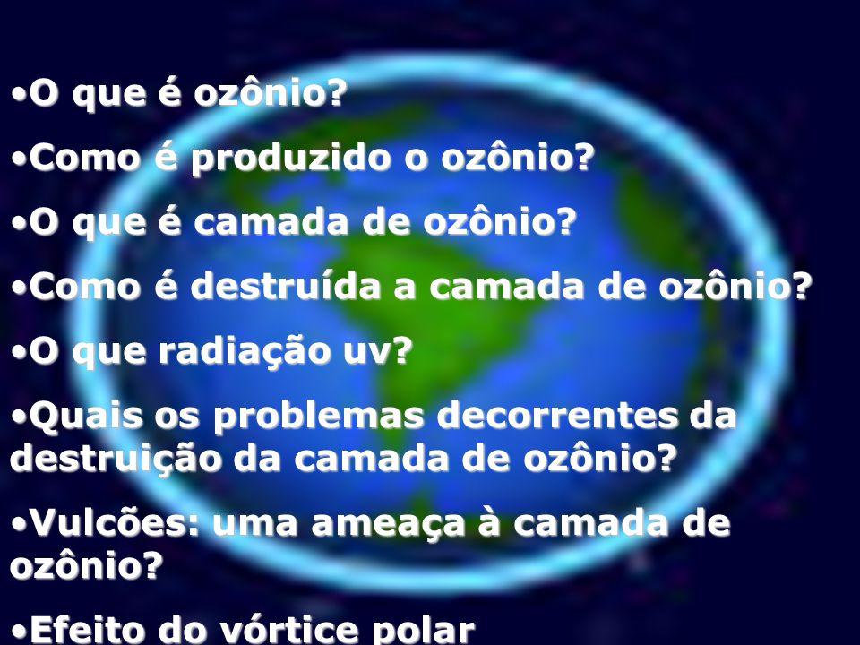 O que é ozônio?O que é ozônio.Como é produzido o ozônio?Como é produzido o ozônio.
