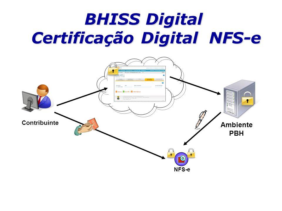 BHISS Digital Certificação Digital NFS-e Contribuinte Ambiente PBH NFS-e