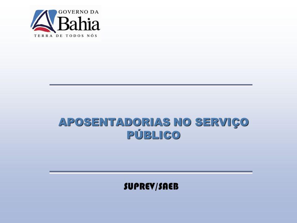 APOSENTADORIAS NO SERVIÇO PÚBLICO SUPREV/SAEB