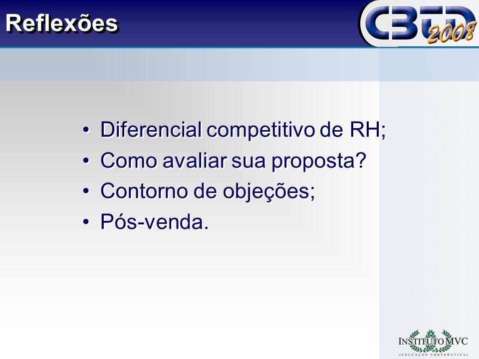 ReflexõesReflexões Diferencial competitivo de RH; Como avaliar sua proposta.