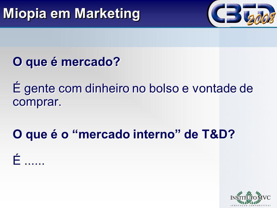 Miopia em Marketing O que é mercado.É gente com dinheiro no bolso e vontade de comprar.