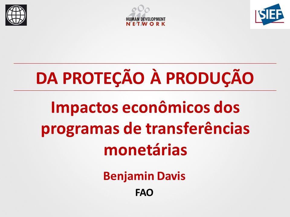 Benjamin Davis FAO DA PROTEÇÃO À PRODUÇÃO Impactos econômicos dos programas de transferências monetárias