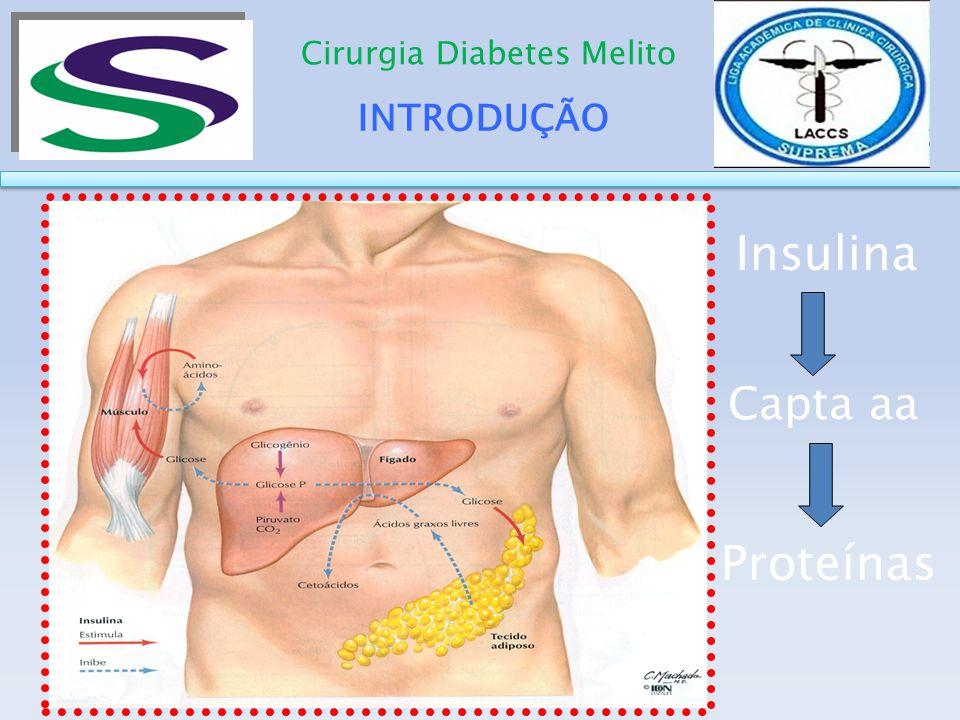 DESENVOLVIMENTO Cirurgia Diabetes Melito Bypass gástrico em Y de Roux A exclusão do duodeno e do jejuno proximal do trânsito alimentar poderia inibir a secreção de um possível sinal que promove a resistência insulínica, levando ao controle do DMT2.