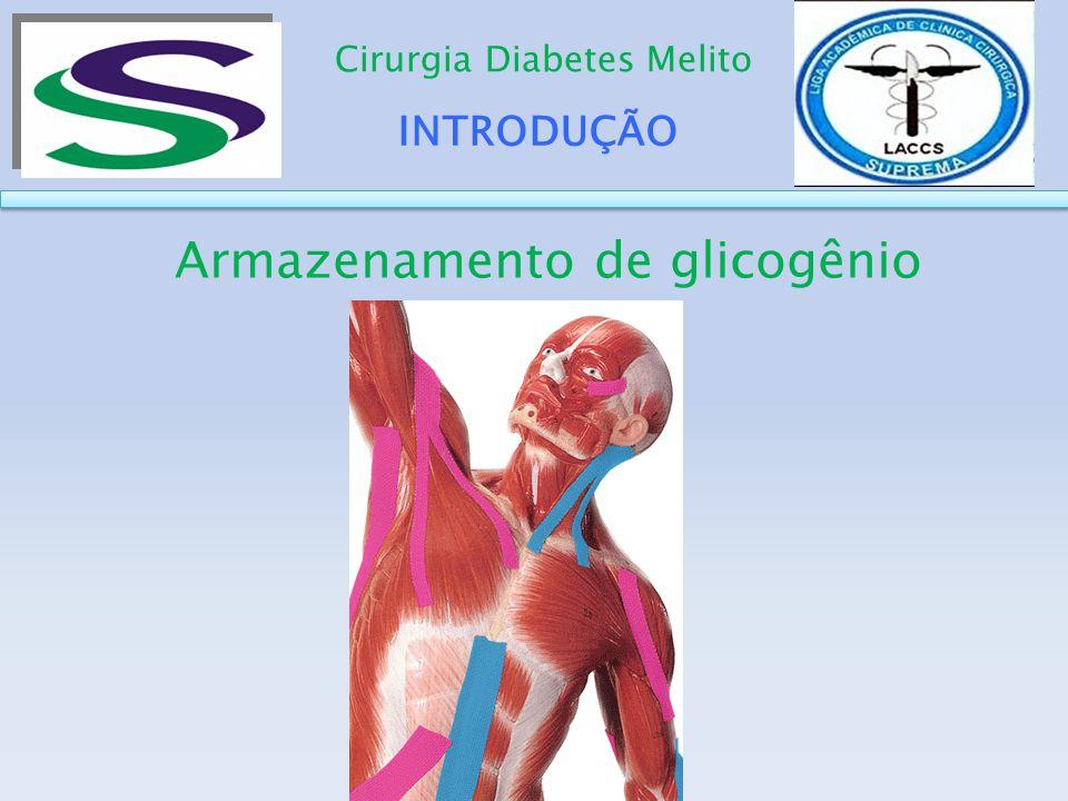 INTRODUÇÃO Cirurgia Diabetes Melito Armazenamento de glicogênio