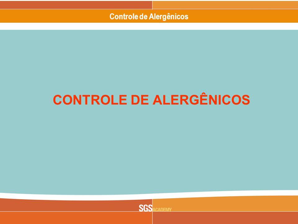 Controle de Alergênicos CONTROLE DE ALERGÊNICOS