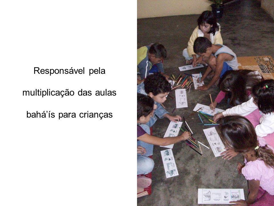 Responsável pela multiplicação das aulas baháís para crianças