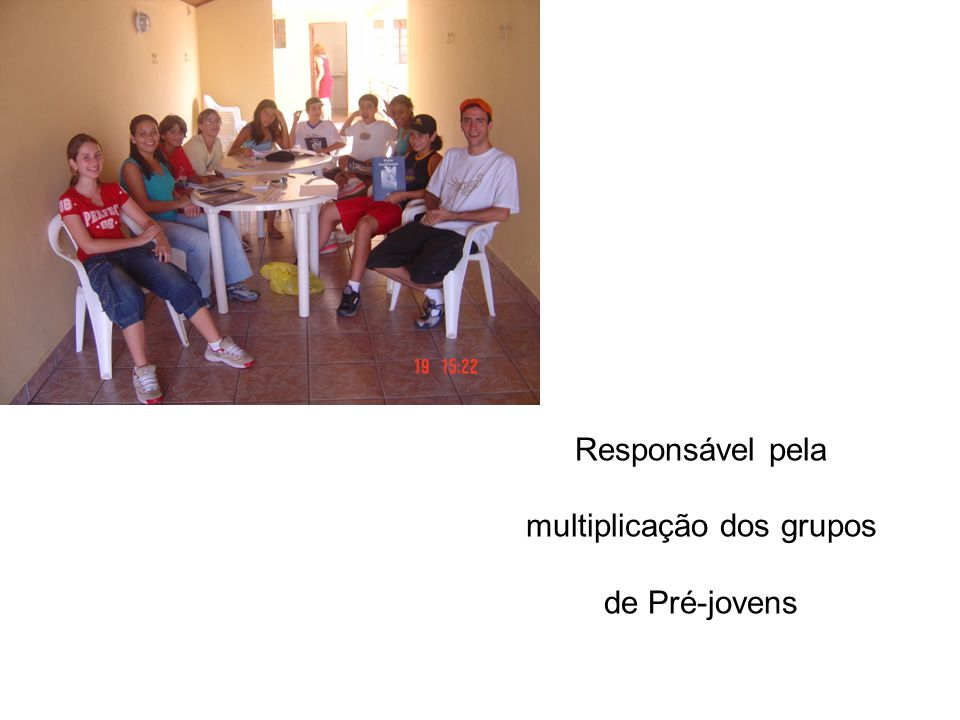 Responsável pela multiplicação dos grupos de Pré-jovens