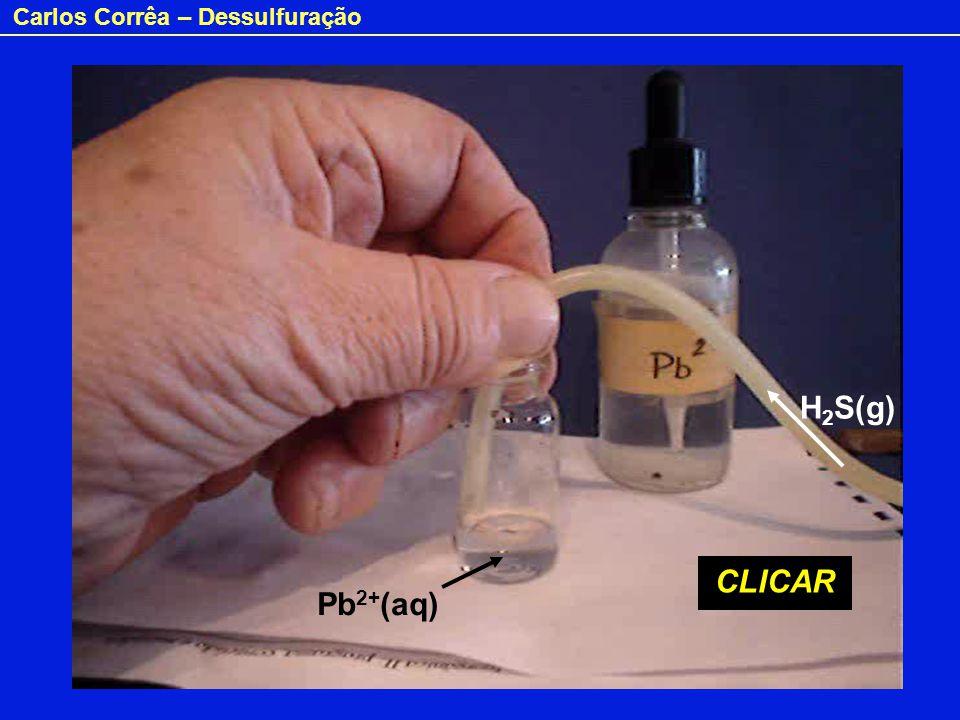 Carlos Corrêa – Dessulfuração Pb 2+ (aq) H 2 S(g) CLICAR