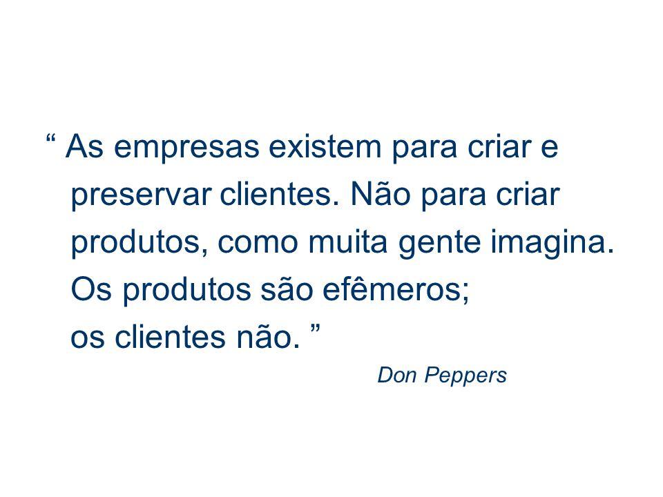 As empresas existem para criar e preservar clientes.
