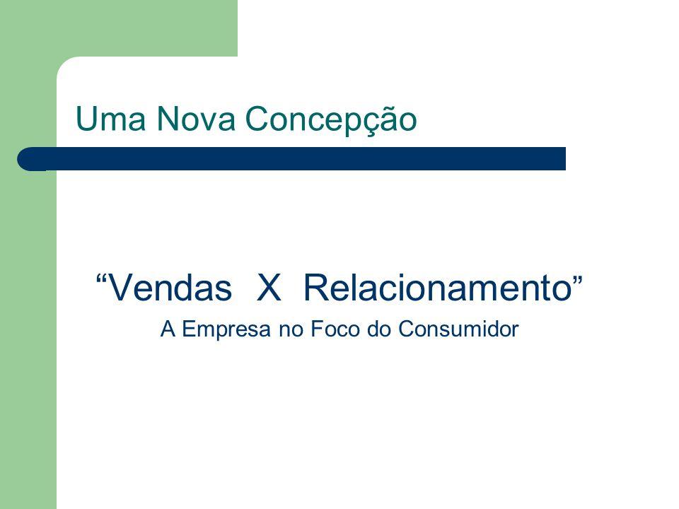 Uma Nova Concepção Vendas X Relacionamento A Empresa no Foco do Consumidor