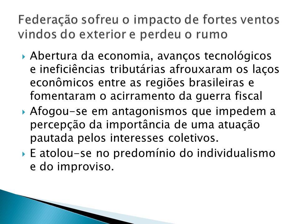 Abertura da economia, avanços tecnológicos e ineficiências tributárias afrouxaram os laços econômicos entre as regiões brasileiras e fomentaram o acir