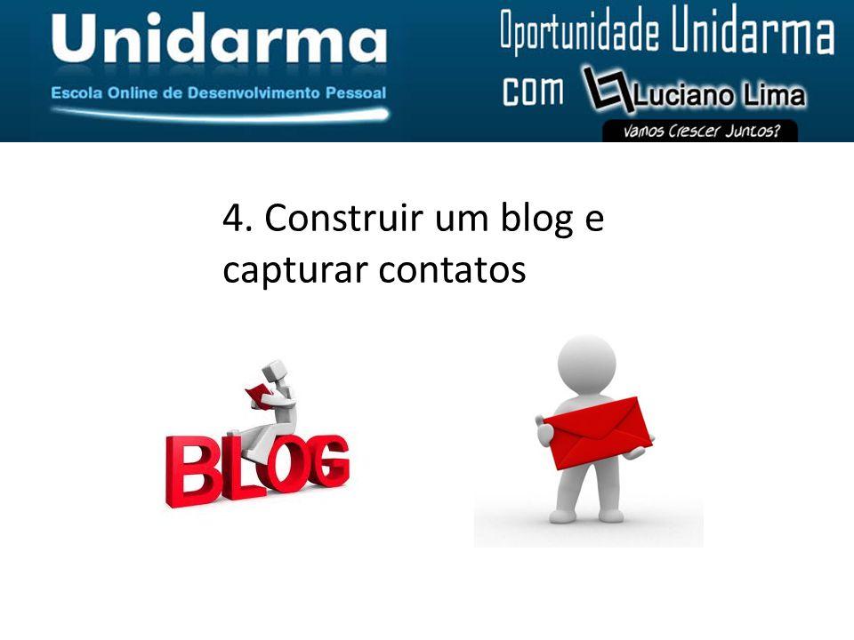 4. Construir um blog e capturar contatos
