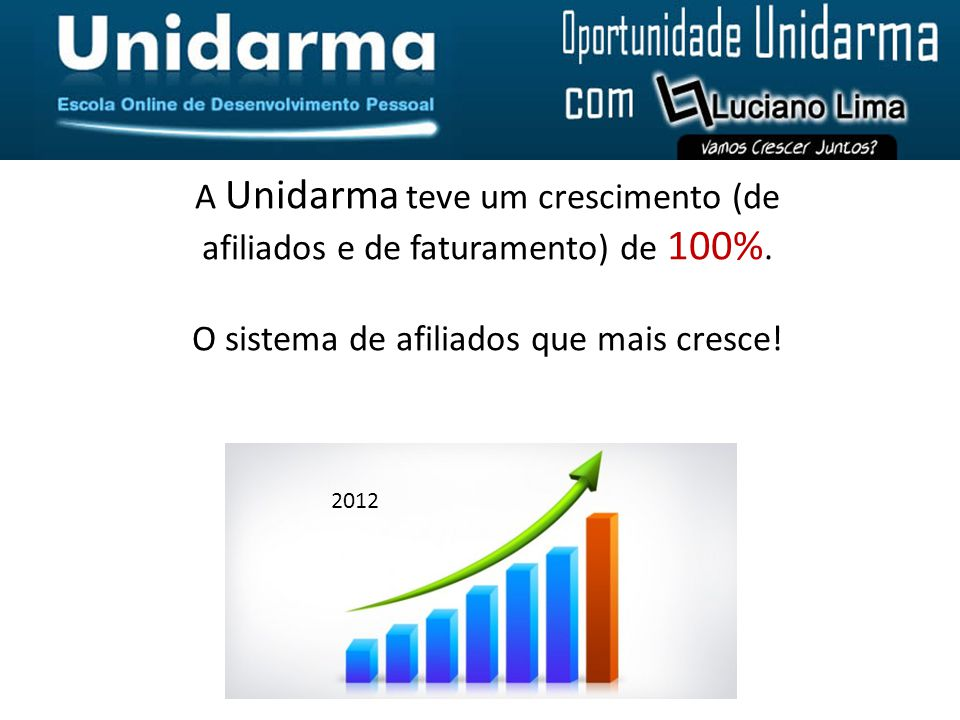 A Unidarma teve um crescimento (de afiliados e de faturamento) de 100%.
